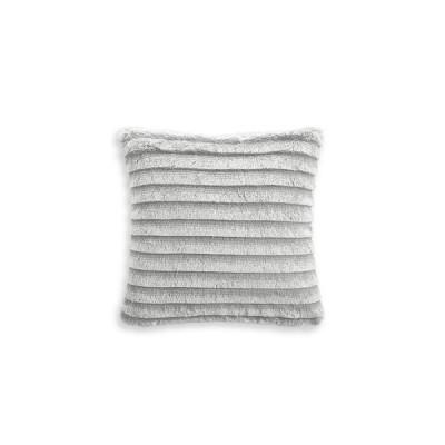 """マーサ スチュワート Martha Stewart Collection ユニセックス 雑貨 Faux Fur Fringe 18""""x18"""" Decorative Pillow Light/pastel Grey"""