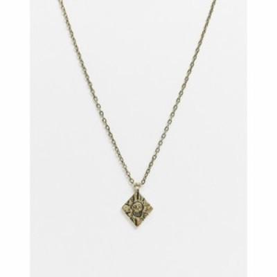 クラシックセブンティーセブン Classics 77 メンズ ネックレス Neckchain In Gold With Diamond Pendant And Skull Engraving ゴールド