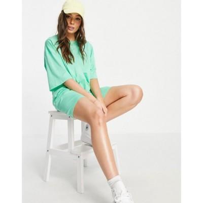 エイソス ASOS DESIGN レディース ワンピース Tシャツワンピース ワンピース・ドレス oversized t-shirt dress in apple green アップルグリーン