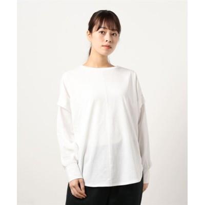 tシャツ Tシャツ 後ろパール釦プルオーバー