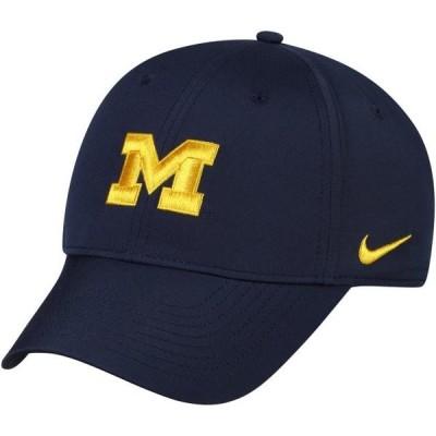 ユニセックス スポーツリーグ アメリカ大学スポーツ Michigan Wolverines Nike Legacy 91 Logo Performance Adjustable Hat - Navy - O
