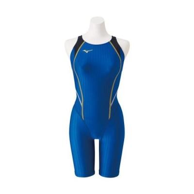 MIZUNO ミズノ STREAM ACE ハーフスーツ(マスターズバック) ブルー N2MG0240 水泳 スイミング 水着