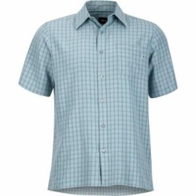 マーモット 半袖シャツ Eldridge Shirts Blue Granite