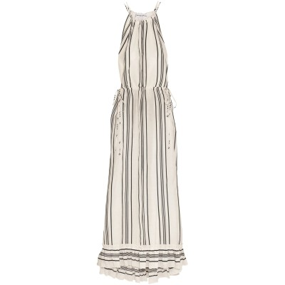 APIECE APART ロングワンピース&ドレス ホワイト 8 リネン 71% / シルク 29% ロングワンピース&ドレス