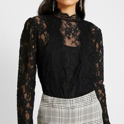 ファッションユニオン レディース ブラウス NALIA PANELLED - Blouse - black