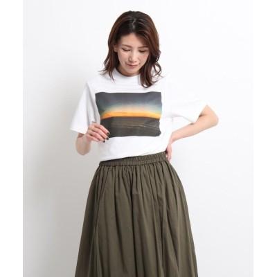 【デッサン】 STAR&STRIPE フォトプリントTシャツ レディース ホワイト 02(S) Dessin