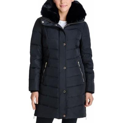 マイケル コース Michael Kors レディース ダウン・中綿ジャケット アウター Faux-Fur Collar Puffer Coat Black