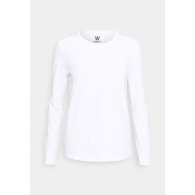 ウッド ウッド カットソー レディース トップス MOA LONG SLEEVE  - Long sleeved top - bright white