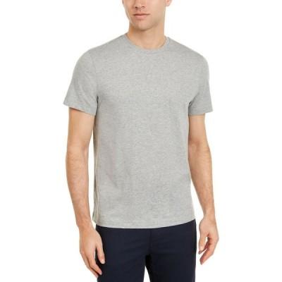 クラブルーム Club Room メンズ Tシャツ トップス Solid Crewneck T-Shirt Light Grey