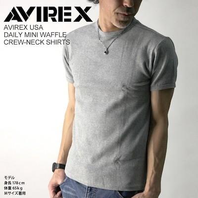 AVIREX/アビレックス/avirex/アヴィレックスミニワッフル クルーネック Tシャツ カットソー Tシャツ