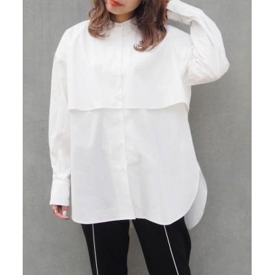 (179/WG/イチナナキュウダブルジー)ケープ風オーバーサイズシャツ/レディース 28オフホワイト