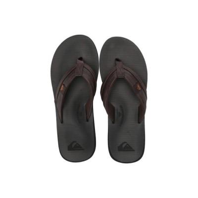 クイックシルバー Quiksilver メンズ ビーチサンダル シューズ・靴 Carver Squish Brown/Black/Brown
