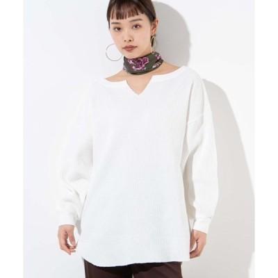 tシャツ Tシャツ WEGO/キーネックワッフルロンT