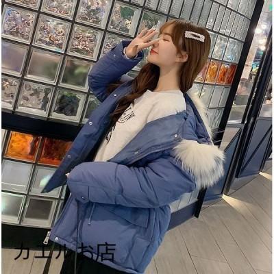 中綿ダウンコート レディース 40代 ショート 軽い 秋冬 アウター 中綿コート 中綿ジャケット ダウン風コート フード付き 厚手 暖かい 大きいサイズ スリム