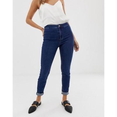 ニュールック レディース デニムパンツ ボトムス New Look high waist skinny jean in mid blue