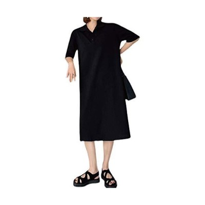 (アップランクス) Upranks ワンピース レディース ロング ポロワンピース 半袖 大きいサイズ サックドレス (2x_l)