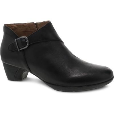 ダンスコ DANSKO レディース ブーツ シューズ・靴 Darbie Bootie Black Leather