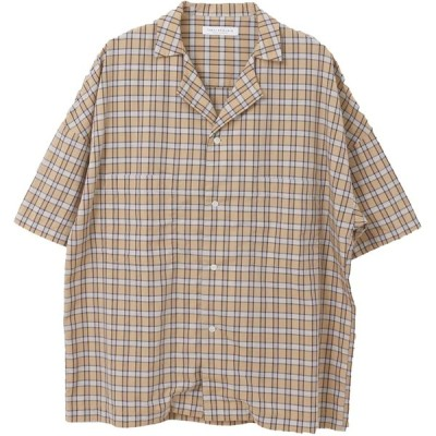 [アーバンリサーチ] ワイシャツ ビッグシルエットオープンカラーシャツ メンズ UR95-13H007 BEG CHECK FREE