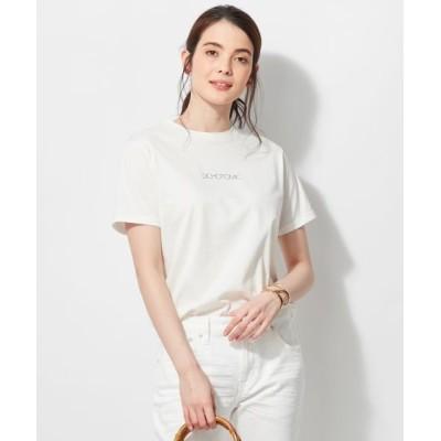 L size ONWARD(大きいサイズ)/エルサイズオンワード 【マガジン掲載】ALBINIプリントTシャツ(番号K56) ホワイト系 44