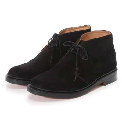 ロンドンシューメイク London Shoe Make グッドイヤーウエルトオールレザーハンドメイドスェードカントリーブーツ(ブラック)