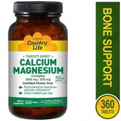 ●Country Life - Calcium Magnesium Complex, 1,000 mg/500 mg 360粒