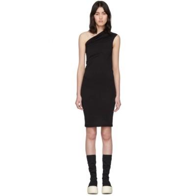 リック オウエンス Rick Owens Drkshdw レディース ワンピース チュニックドレス ワンピース・ドレス Black One Shoulder Tunic Dress Black