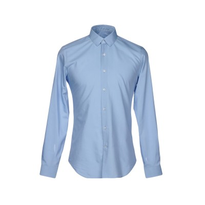 VANGHER N.7 シャツ スカイブルー 41 コットン 55% / シルク 45% シャツ