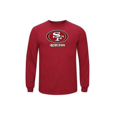 フットボール NFL アメリカ USA 全米 メジャー マジェスティック Majestic San Francisco 49ers Scarlet End Zone Marled Long Sleeve T Shirt