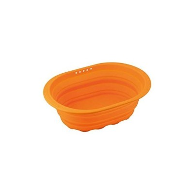 和平フレイズ 小判型洗い桶 スキッとシリコーン オレンジ SR-4883