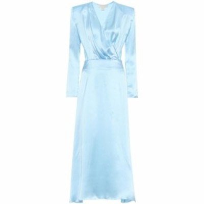 マテリエルティビリシ Materiel Tbilisi レディース ワンピース ワンピース・ドレス Silk-satin dress Light Blue