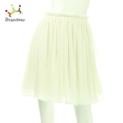 アクアガール aquagirl スカート サイズS レディース 美品 ホワイト系 フレアスカート   スペシャル特価 20210209