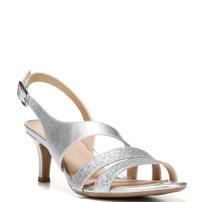 ナチュライザー レディース サンダル シューズ Taimi Glitter Metallic Strappy Dress Sandals Silver