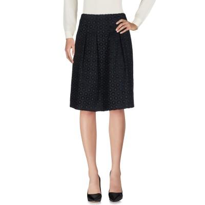 MENAH ひざ丈スカート ダークブルー M ポリエステル 84% / レーヨン 11% / ポリウレタン 5% ひざ丈スカート