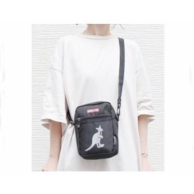 カンゴール 財布やスマホが入るメッシュポケット ストリート感いっぱいの赤のBOX LOGO ポーチ ミニショルダー バッグ メンズ KANGOL 【KG