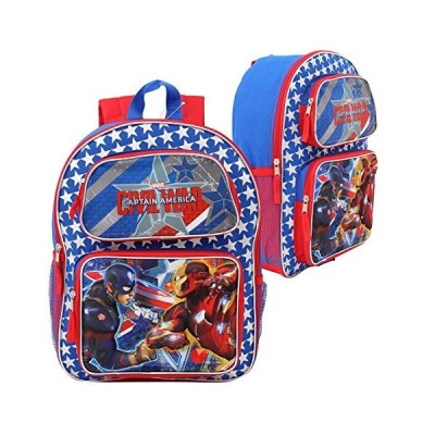 "Marvel Captain America Civil War 3D Pop-Up 16"" Backpack 並行輸入品"