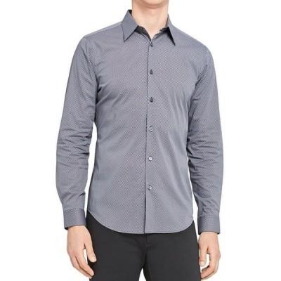 セオリー メンズ シャツ トップス Sylvain Micro Print Button Down Shirt