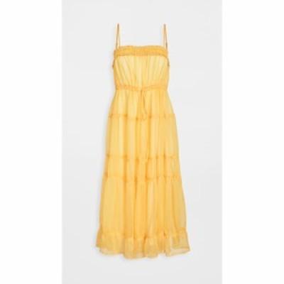ムーンリバー Moon River レディース ワンピース ミドル丈 ワンピース・ドレス Midi Dress Yellow