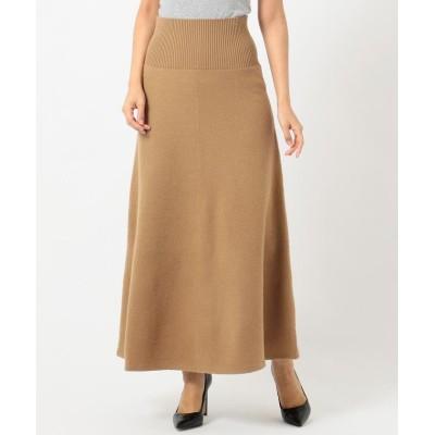 (ICB(LARGE SIZE)/アイシービー エルサイズ)Milled Wool スカート/レディース キャメル系