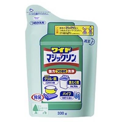 ワイドマジックリン つめかえ用 330g 花王 粉末タイプのつけ置き洗剤 台所洗剤 キッチン洗剤 ベタベタ油汚れ つけおき洗浄