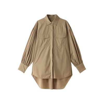 Speedo スピード 【ELLE SHOP × SPEEDO × ETRE TOKYO Collaboration】オーバーサイズシャツ レディース ベージュ F