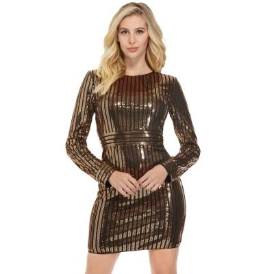 ゲス GUESS Alexia Sequin Dress (JET BLACK MULTI)
