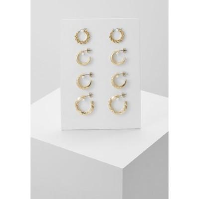 ピーシーズ ピアス&イヤリング レディース アクセサリー PCSOL HOOP EARRINGS 4 PACK  - Earrings - gold-coloured