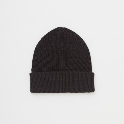 "ANDERSEN-ANDERSEN ""COTTON MIDDLE BEANIE 5GG""(BLACK)"