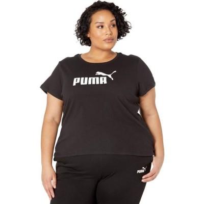 プーマ PUMA レディース Tシャツ 大きいサイズ ロゴTシャツ トップス Plus Size Essential Logo Tee Cotton Black