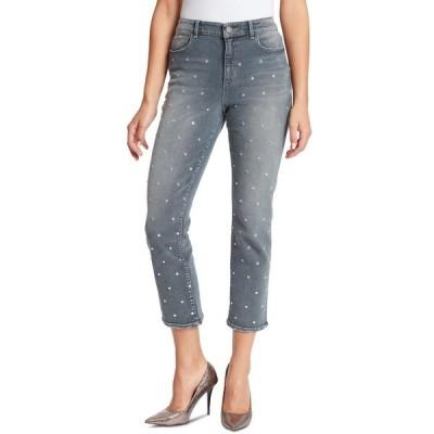 スキニーガール デニムパンツ ボトムス レディース Women's Warren High-Rise Straight Ankle Jeans with Stud Astor