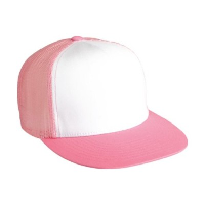 Flexfit Adjustable Snapback Classic Trucker Hat by 6006 (Pink/White/Pink)