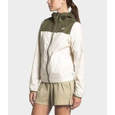 ノースフェイス レディース ジャケット・ブルゾン アウター The North Face Women's Cyclone Jacket Vintage White / Burnt Olive Green