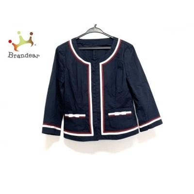 ギャラリービスコンティ ジャケット サイズ2 M レディース - ネイビー×レッド×白 七分袖/夏 新着 20200731