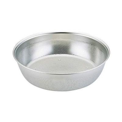 三宝産業 ざる シルバー 15cm HACCP 浅型パンチボール 09904550
