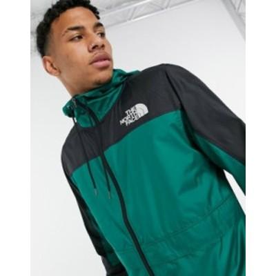 ノースフェイス メンズ ジャケット・ブルゾン アウター The North Face Himalayan wind shell jacket in green Evergreen